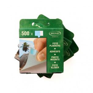 Pastilles adhésives pour photos Brepols - boîte de 500