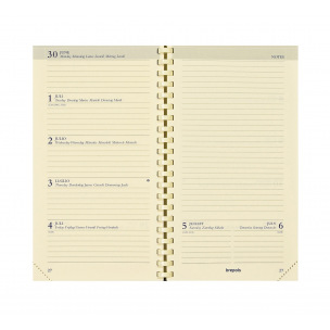 Agenda Brepols NOTAPLAN - 9 x 16 cm - 1 semaine sur 2 pages + notes