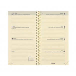 Agenda Brepols INTERPLAN - 9 x 16 cm - 1 semaine sur 2 pages