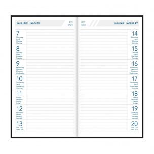 Agenda Aurora TIMEPLAN - 9 x 16,5 cm - 1 semaine par page