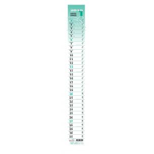 Languette calendrier BUROLA PLANO - 7,5 x 66 cm