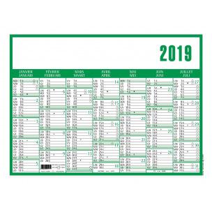 Calendrier planning CLASSIC - 7 mois par face - 55 x 40,5 cm
