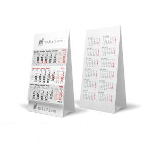Calendrier chevalet de bureau - 3 mois - 10,5 x 21 cm