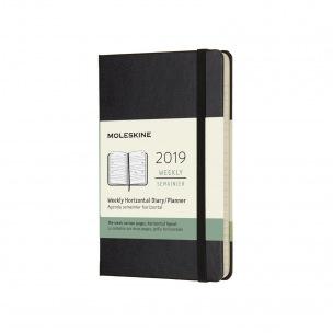 Agenda Moleskine - Pocket 9 x 14 cm - 1 semaine sur 2 pages