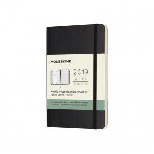 Agenda Moleskine - Pocket 9 x 14 cm - 1 semaine sur 2 pages avec notes