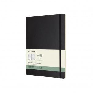 Agenda Moleskine - XL 19 x 25 cm - 1 semaine sur 2 pages avec notes
