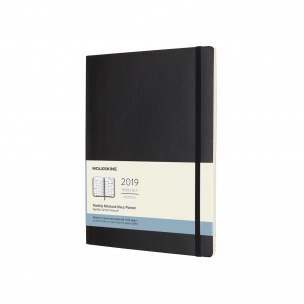 Agenda Moleskine - XL 19 x 25 cm - 1 mois sur 2 pages avec notes