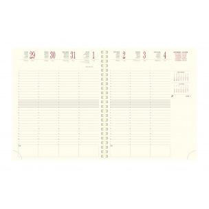 Agenda Exacompta EUROTIME 22S - 18 x 22,5 cm - 1 semaine sur 2 pages