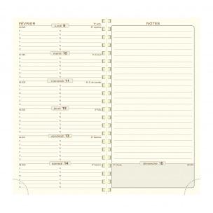Agenda Exacompta ESPACE 17S - 9 x 17,5 cm - 1 semaine sur 2 pages avec notes