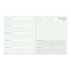 Agenda Exacompta ESPACE 22 - 18 x 22,5 cm - 1 semaine sur 2 pages avec notes