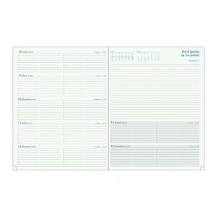 Agenda Exacompta ESPACE 27 - 21 x 27 cm - 1 semaine sur 2 page avec notes