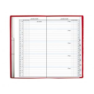 Agenda Exacompta EXAPLAN 16 - 9 x 16 cm - 1 mois sur 2 page