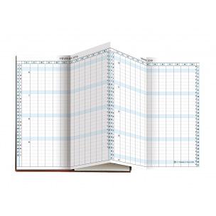 Planning Exacompta EXAPLAN 17 accordéon - 9 x 17,5 cm - 1 mois sur 2 pages