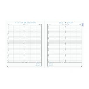 Agenda Exacompta JOURNEE PLANIFIEE 22 - 18 x 22,5 cm - 1 jour par page