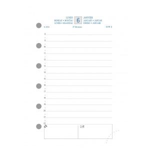 Recharge organiser Exacompta EXATIME 14 - 1 jour par page