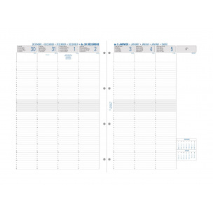 Recharge organiser Exacompta EXATIME 29 - 1 semaine sur 2 pages