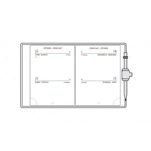 Recharge agenda Mignon - 6,8 x 9 cm - 2 jours par page