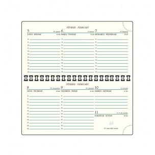 Recharge agenda Mignon - 7,8 x 15,4 cm - 1 semaine sur 2 pages