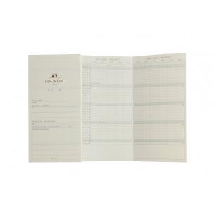Recharge planning accordéon Mignon - 7,8 x 15,4 cm - 1 mois sur 2 pages
