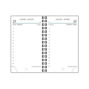Recharge agenda Mignon TS12 - 12 x 17,3 cm - 1 jour par page