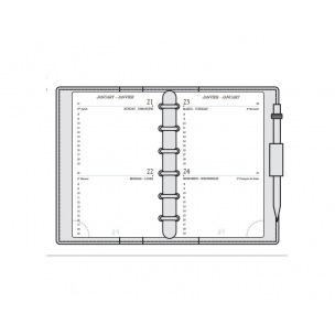 Recharge organiser Mignon AK12 - 7,3 x 12 cm - 2 jours par page