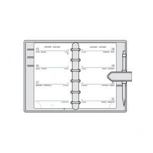 Recharge organiser Mignon SK12 - 7,3 x 12 cm - 1 semaine sur 2 pages