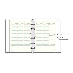 Recharge organiser Mignon AK13 - 9,1 x 12,6 cm - 1 semaine sur 2 pages