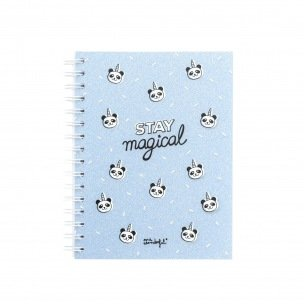 Cahier spiralé Mr Wonderful - A5 - Stay magical