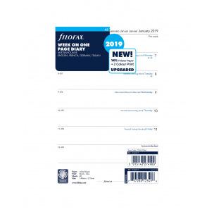Recharge organiser Filofax - 1 semaine par page