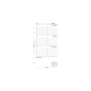 Recharge organiser Filofax - 1 semaine sur 2 pages