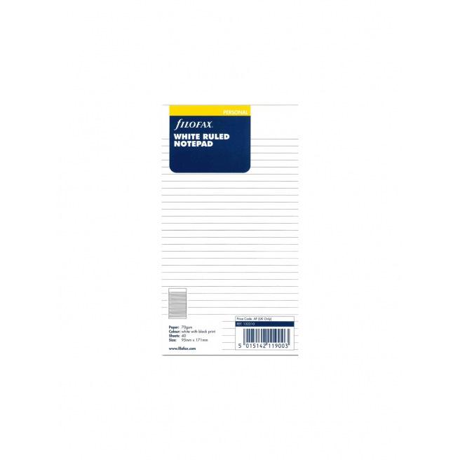 Recharge bloc-notes ligné pour organiser Filofax