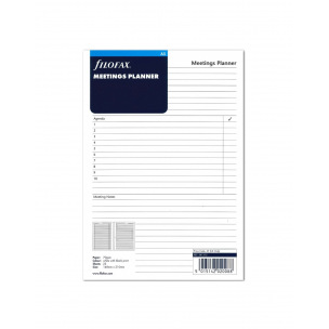 Recharge pour organiser Filofax MEETINGS PLANNER - A5