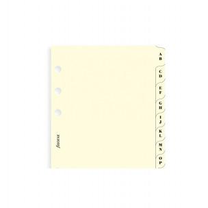 Intercalaires alphabétiques pour organiser Filofax - carton ivoire