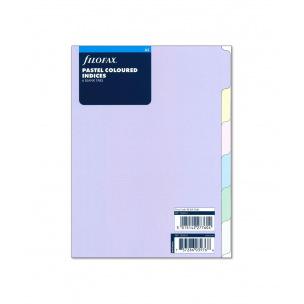 Intercalaires pour organiser Filofax - 6 ONGLETS NEUTRES - carton de couleur pastel