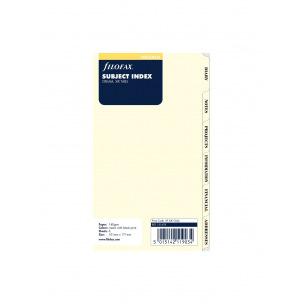 Intercalaires pour organiser Filofax - 6 onglets imprimés - carton ivoire - Personal (9,5 x 17,1 cm)