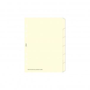 Intercalaires pour organiser Filofax - 6 ONGLETS NEUTRES - carton ivoire - A5