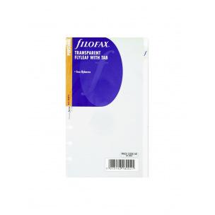 Feuille protectrice transparente pour organiser Filofax - étui de 2