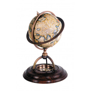Globe Authentic Models MERCATOR avec boussole - 14,5 cm