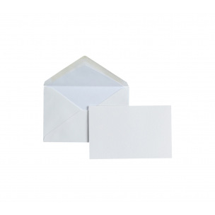 Cartes et enveloppes doublées Crown Mill - cello de 15