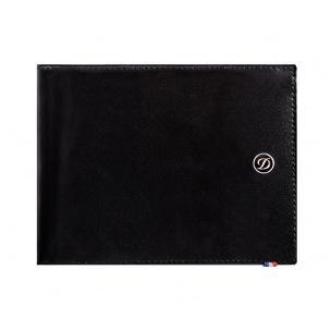 Portefeuille S.T.Dupont Line D en cuir - 8 cartes - noir