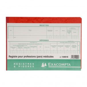 Registre Exacompta 14401X - RECETTES-DÉPENSES pour PROFESSIONS MÉDICALES