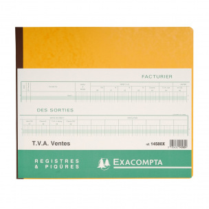 Registre Exacompta 14580X - TVA VENTES