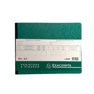 Registre Exacompta 9300X - LIVRE D'ACTIONNAIRES S.A.