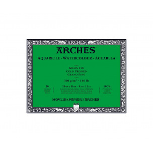 Bloc de papier AQUARELLE ARCHES 300 g - collé 4 côtés