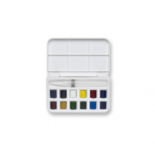Set d'aquarelle Winsor & Newton COTMAN avec pinceau à réservoir d'eau