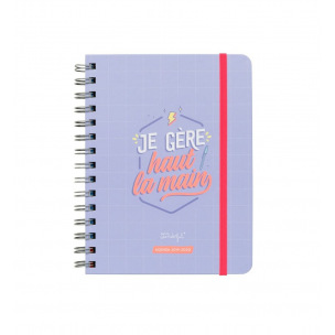 Agenda scolaire Mr Wonderful SKETCH - 14,5 x 19,5 cm - 1 semaine sur 2 pages