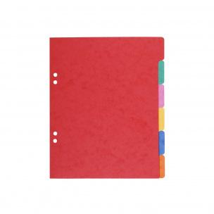 Intercalaires à onglet neutres - carton de couleur 225 g - A5 - 6 onglets