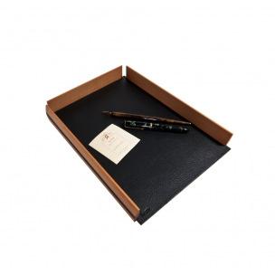 Bac à courrier De Laforêt cuir et bois