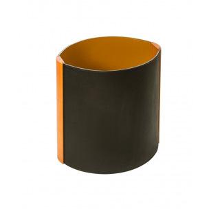 Corbeille à papier De Laforêt cuir et bois