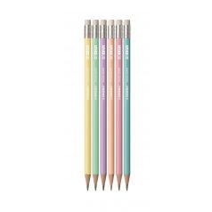 Crayon Stabilo SWANO PASTEL avec gomme - HB - blister de 6